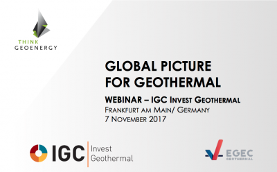 "Sunum: ""The global picture for geothermal"" Alexander Richter"