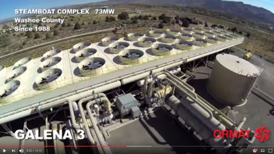 Video celebrating 30 years of Ormat geothermal plants in Nevada